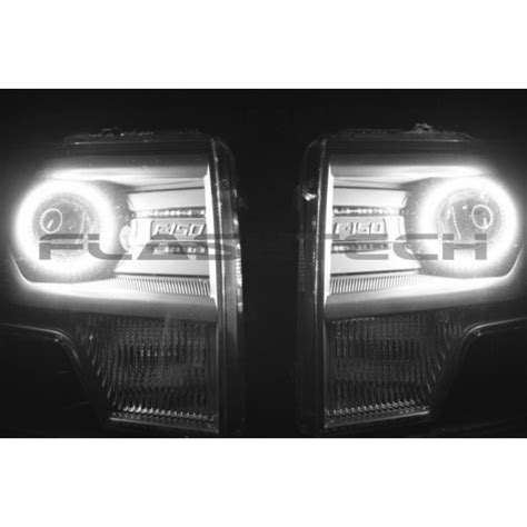 ford f150 projector white led halo headlight kit 2013 2014