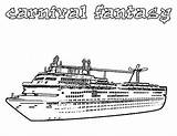 Cruise Ship Coloring Pages Carnival Fantasy Disney Netart Line Printable Lego Colonial Books sketch template