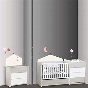 Sticker Chambre Bebe : stickers chambre b b home timouki de sauthon baby deco sur allob b ~ Melissatoandfro.com Idées de Décoration