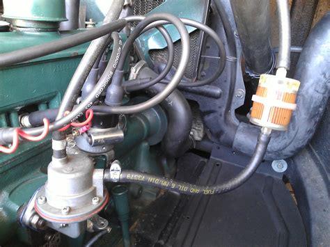 Allumage 4CV   Position filtre à essence
