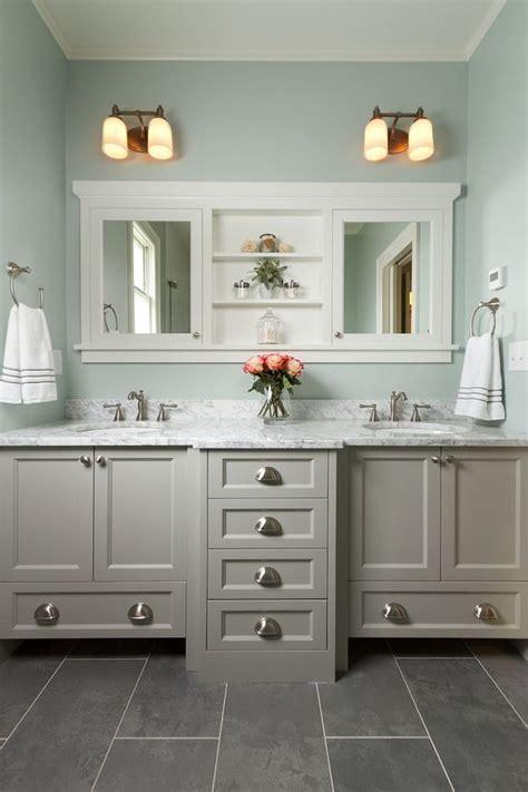 master bathroom  double vanity marble countertop
