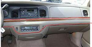2001 Ford Crown Victoria  Hole Climate Control Switch