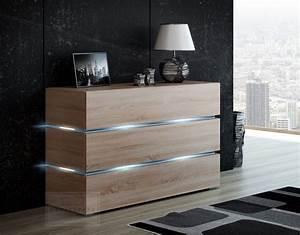 Sideboard 300 Cm : kaufexpert kommode shine sideboard 120 cm sonoma eiche led beleuchtung modern design tv m bel ~ Whattoseeinmadrid.com Haus und Dekorationen