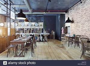 modern restaurant interior design. 3d rendering concept Stock Photo: 226432438 - Alamy