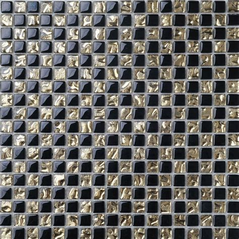 glass tile kitchen backsplash glass mosaic tile backsplash gold black blend