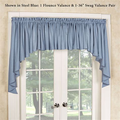Solid Gray Valance by Glasgow Solid Color Flounce Window Valance