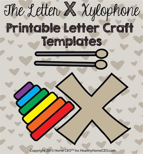 letter  xylophone printable letter craft template