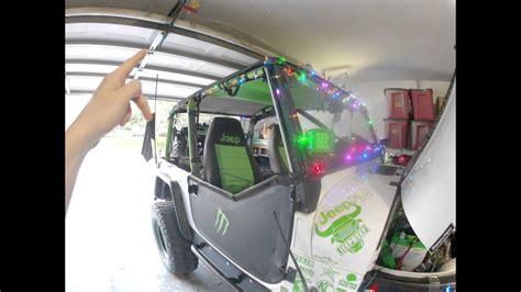 jeep wrangler christmas lights   video youtube
