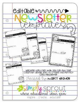 school weekly newsletter templates  teachers