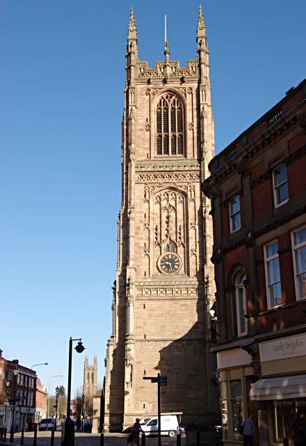 derby cathedral tower  jerry evans geograph britain