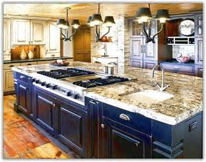 granite top kitchen islands kitchen island with cooktop and sink home design ideas