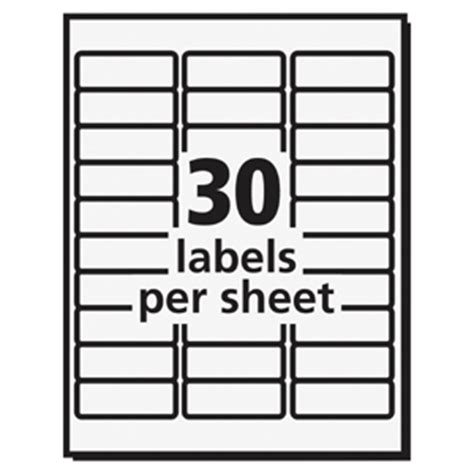 avery 8660 template avery 8660 easy peel inkjet printer mailing labels permanent adhesive 1 quot width x 2 5 8 quot length