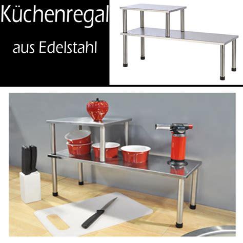Küchenregal Mit Arbeitsplatte by K 252 Chenregal Regal Edelstahl Gew 252 Rzregal K 252 Chenablage