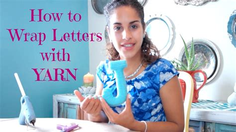 How To Wrap Letters With Yarn Youtube