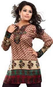 Women's Indian Tunic Top Kurti Printed Blouse