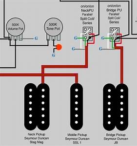 Series  Parallel  Split Wiring Diagram