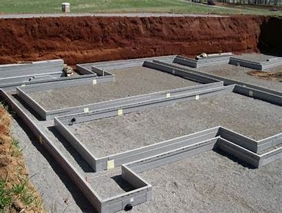 Drain Form Foundation Concrete Forms Installation Before
