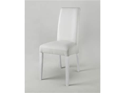 Chaise Pisa Laquee Bicolore Blanc / Gris Blanc/pied Blanc