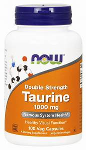 Now Supplements  Taurine  Double Strength 1000 Mg  100 Veg