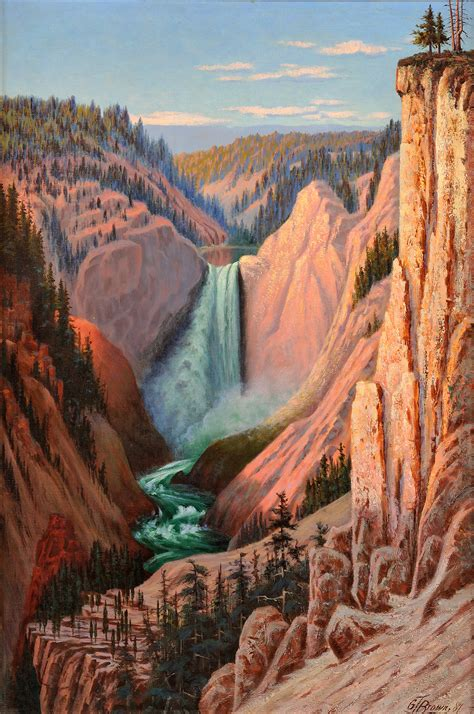 grand tyler brown grafton canyon falls african auction fine american treadway artnet oregon hood mt march mutualart