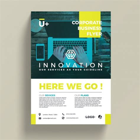 Free Business Flyer Templates by Innovative Corporate Business Flyer Template Psd File