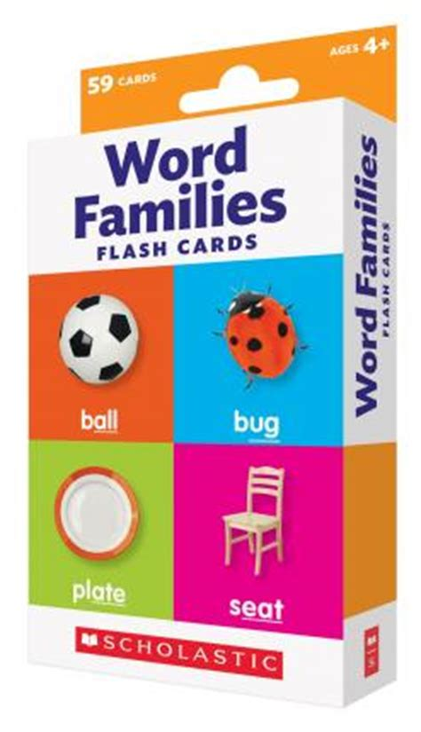Flash Cards Word Families  Scholastic Teaching Resources 9780545906838