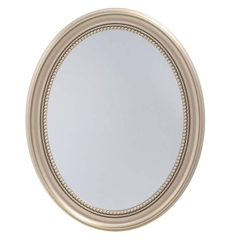 oval recessed medicine cabinet 23 5 in x 29 in recessed or surface mount mirrored