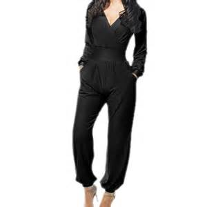 Sexy Women Cocktail Evening Party LONG SLEEVE Jumpsuit ...