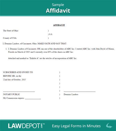 Affidavit Template Affidavit Form Free General Affidavit Template Us
