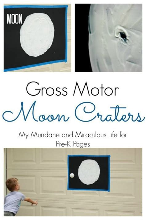moon crater gross motor activity all things preschool 360 | da54f22247906db8921afe861dedeeb8