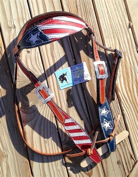 foto de Magics Custom Tack Patriotic American flag red white and