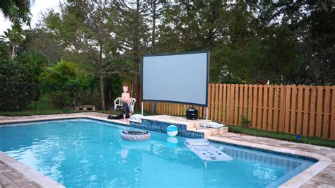 backyard theater system diy outdoor  theater