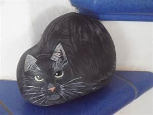 Steine Bemalen Katze : bemalter stein katze erh bei ebay bemalter stein bemalte steine katzen tiere auf stein ~ Watch28wear.com Haus und Dekorationen