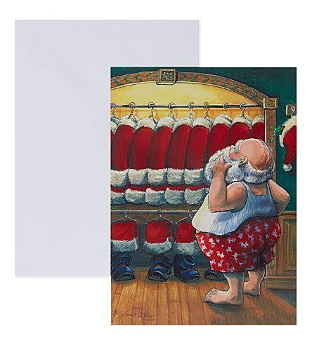 The Closet Santa by The Great Card Company Set Of 10 Santa S Closet