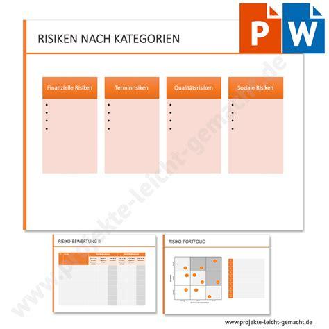 vorlage risikoanalyse projektmanagement vorlagen und kurse