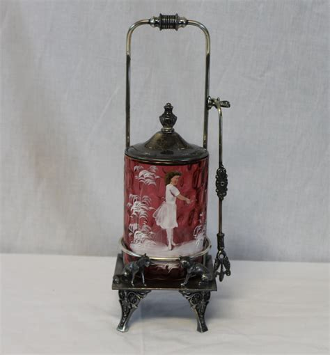 Bargain John's Antiques   Cranberry Mary Gregory Victorian
