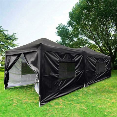 upgraded quictent easy pop canopy instant party tent sides black ebay