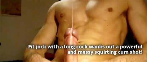 A Squirting Cum Shot From A Long Jock Cock