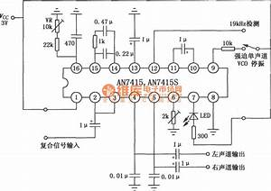 Circuit Of An7415  7415s Fm Stereo Decoder Circuit Diagram World