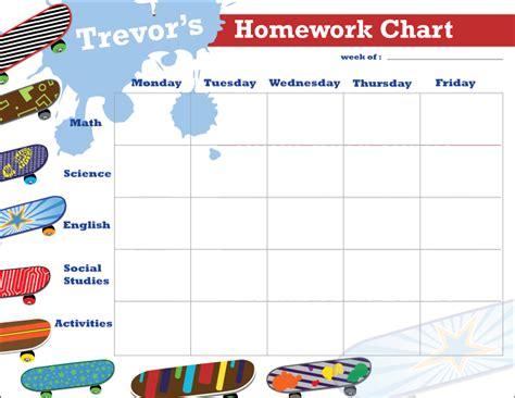 skateboards personalized calendar pad kids schedule pad
