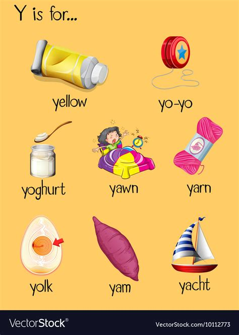foods starting with letter y food 251 | many words begin with letter y vector 10112773
