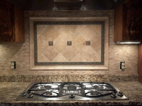 Marble mosaic w/ picture frame   kitchen backsplash's