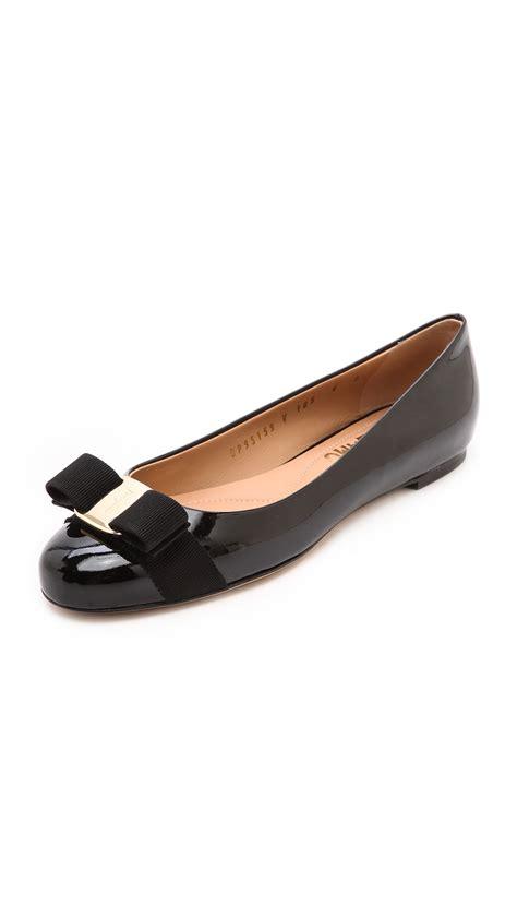 Flats Ferragamo D5852 salvatore ferragamo varina flats nero shoes