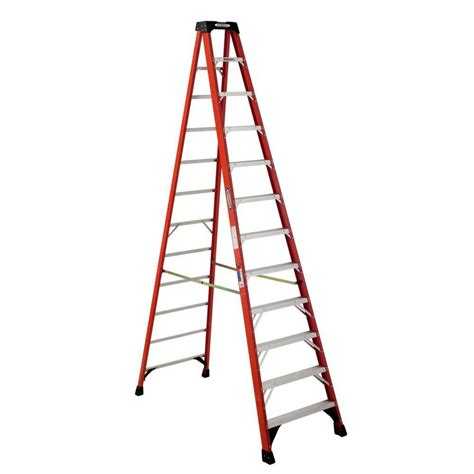 ladder review werner 12 ft fiberglass step ladder with 300 lb load capacity type ia duty rating nxt1a12