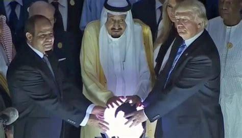 trump donald orb glowing going ball really crystal saudi thread newshub purpose politics beyond steps sisi salman
