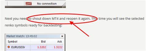 metatrader 4 offline installer workaround solution for error 131 in mt4 strategy tester