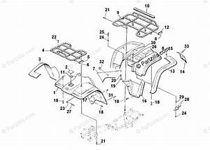Arctic Cat Atv 2001 Oem Parts Diagram For Body Panel Assembly