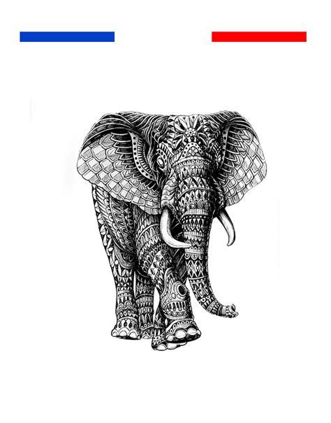 tatouage elephant mandala femme temporaire mon petit