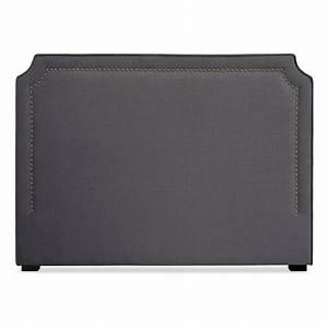 Tete De Lit Tissu Gris : t te de lit 160cm tissu gris milan ~ Teatrodelosmanantiales.com Idées de Décoration