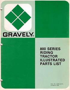 Gravely 800 Series Parts Catalog For Riding Tractors